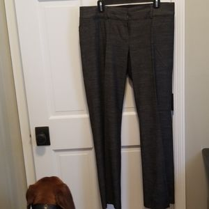 Loft unlined black tweed trouser pants.